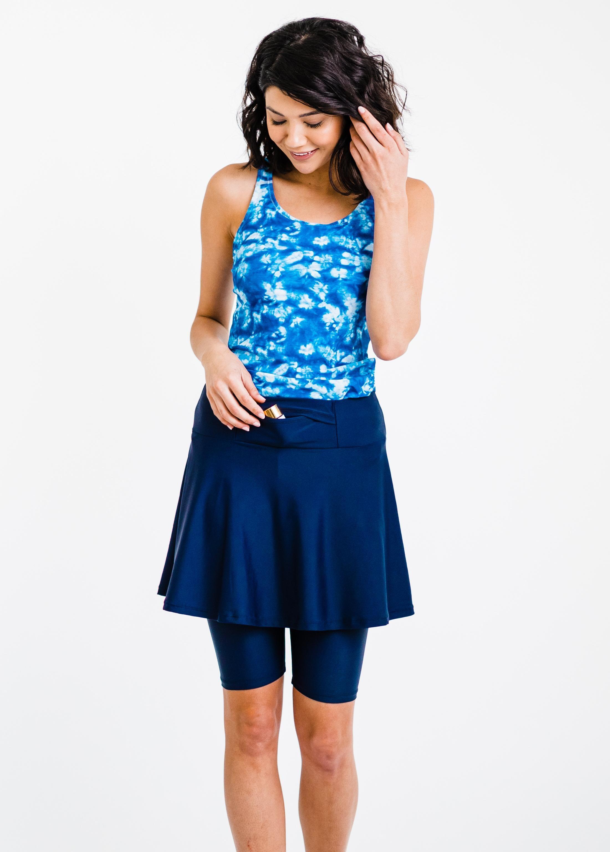 Maya Swim Top With Midi Swim Skort With A Pocket