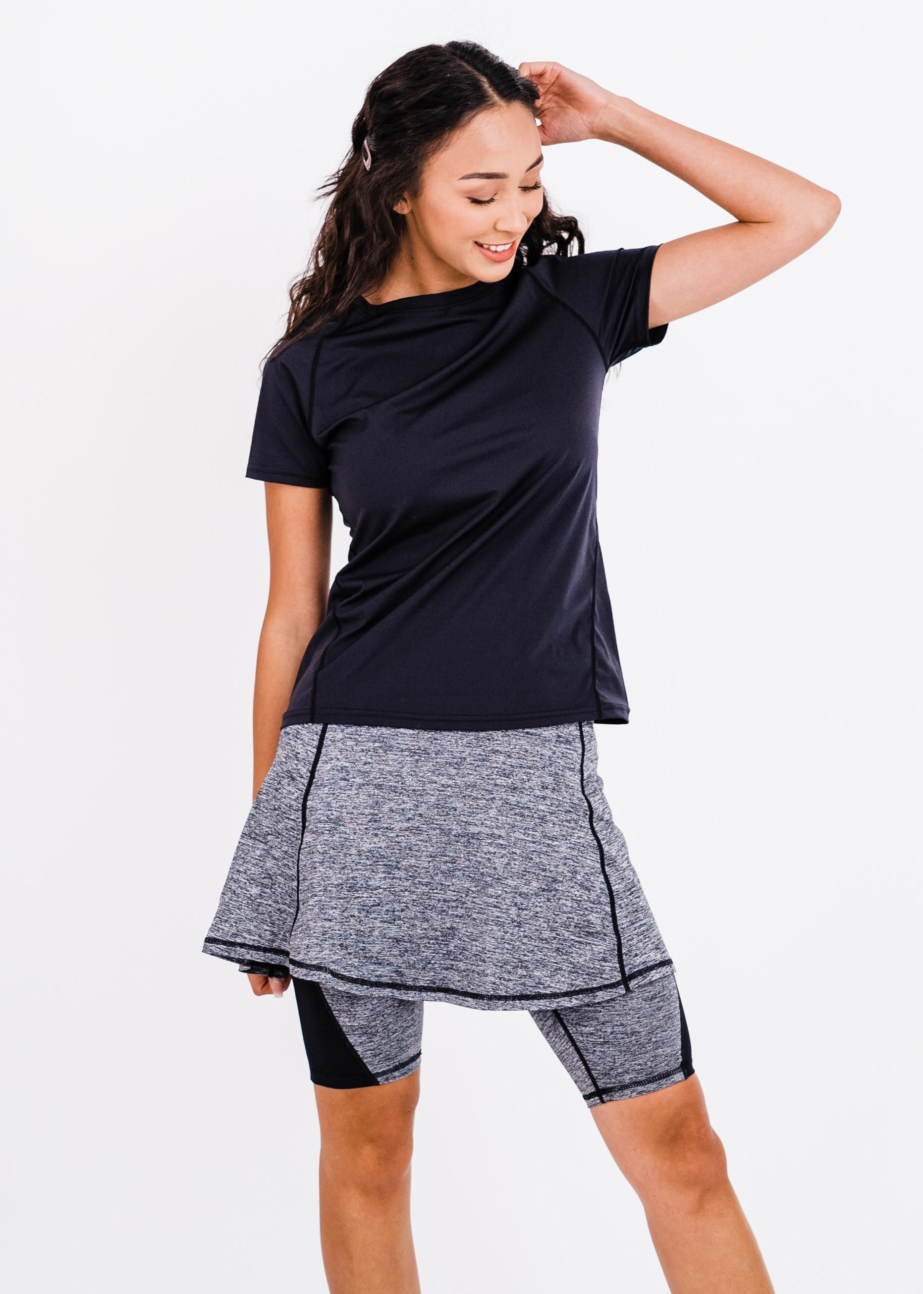 """Pro Performance Top With Midi Lycra® Sport Skirt With Attached 10"""" Leggings"""