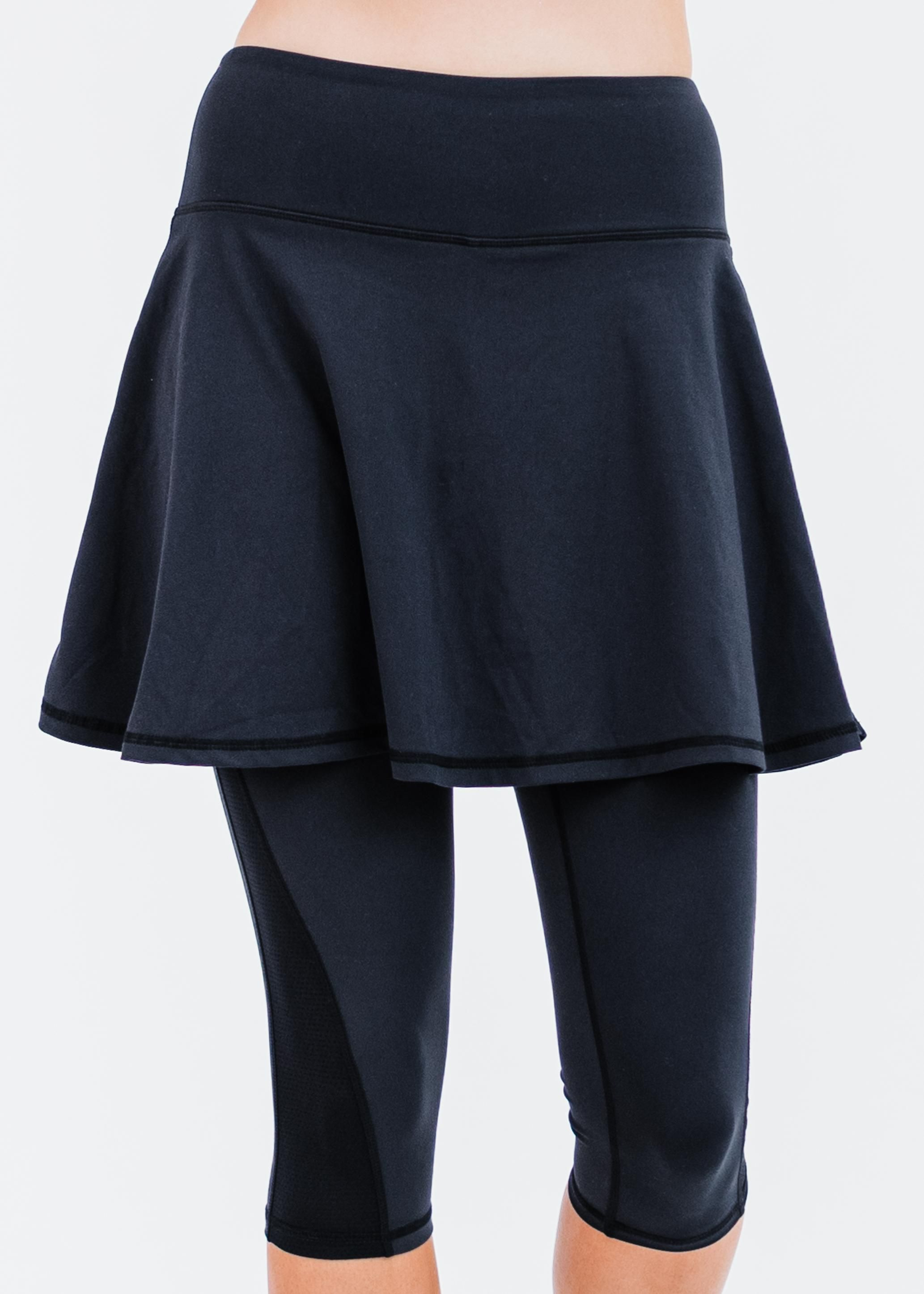 """Flowy Lycra® Sport Skirt With Attached 17"""" Leggings"""