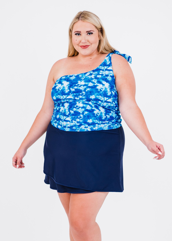 Plus Size Layla Crop Swim Top With Sarong Wrap Swim Skirt & Bikini Bottom